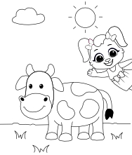 Coloring Pages Cow, Printable Cow Coloring Pages