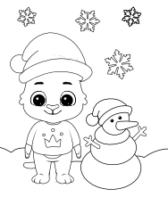 Printable Christmas-4 Coloring Pages