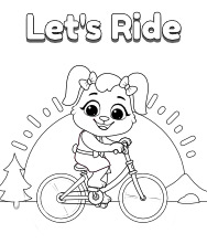 Printable Cycling Coloring Pages