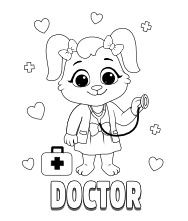 Printable Doctor Coloring Pages