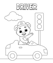 Printable Driver Coloring Pages
