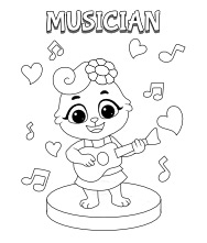 Printable Musician Coloring Pages
