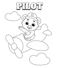 Printable Pilot Coloring Pages