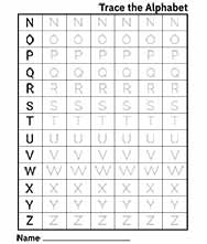 Free Printable Tracing Capital Letters Worksheet for Kids