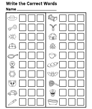 Free Identify Pictures Worksheet for Kids