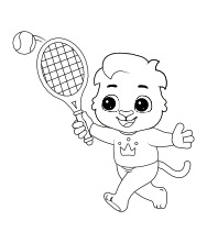Printable Tennis Coloring Pages