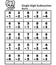 Subtraction Worksheets and Free Printables