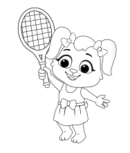 Printable Tennis-1 Coloring Pages