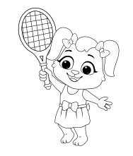 Tennis Coloring Page   Free Coloring Pages