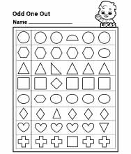 Free Printable Worksheets for Kids - Odd One Out Worksheet