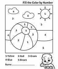 Free Color by Numbers Worksheets and Printables