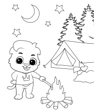 Printable Camping Coloring Pages