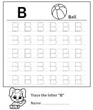 Uppercase Letter B