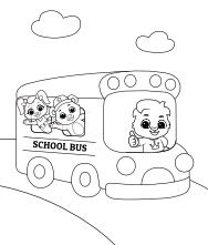 School Bus Coloring Page | Free Coloring Pages