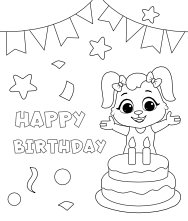 Free Printable Happy Birthday Coloring Pages