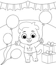 Free Printable Birthday Balloons Coloring Pages