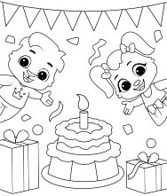 Free Printable Birthday Cake Coloring Pages