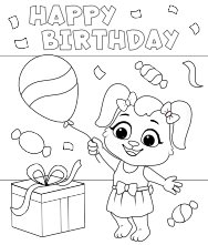 Free Printable Birthday Party Coloring Pages