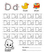 Trace Alphabet Letter Dd Worksheets