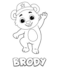 Printable Brody Coloring Pages