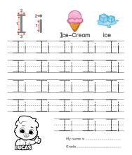 Trace Alphabet Letter Ii Worksheets