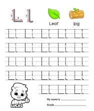 Trace Alphabet Letter Ll Worksheets