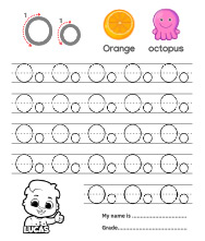 Trace Alphabet Letter Oo Worksheets