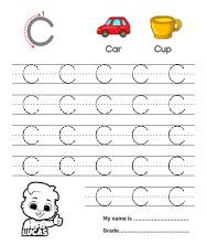 Uppercase Letter C Tracing Worksheets