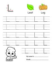 Uppercase Letter L Tracing Worksheets