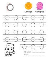 Uppercase Letter O Tracing Worksheets