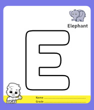 Coloring Page for Letter E