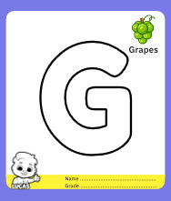 Coloring Page for Letter G