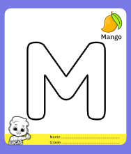 Coloring Page for Letter M