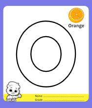 Coloring Page for Letter O