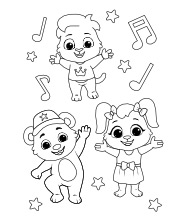 Printable Dance Coloring Pages