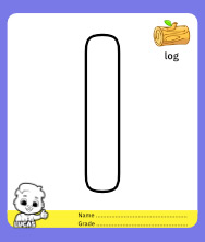 Coloring Pages for Alphabet l