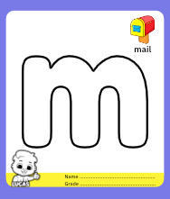 Coloring Pages for Alphabet m
