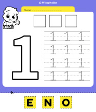 Number 1 Cut and Past Worksheet