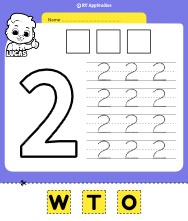 Number 2 Cut and Past Worksheet