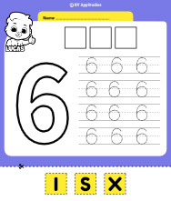 Number 6 Cut and Past Worksheet