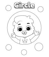 Circle Coloring Page | Printable and Worksheets