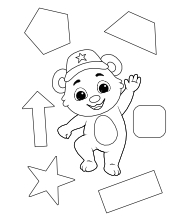Printable Shapes-1 Coloring Pages