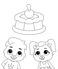 Printable Cake Coloring Pages