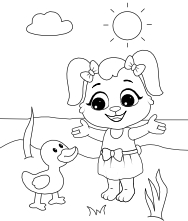 Printable Duckling Coloring Pages