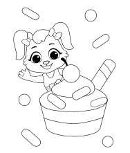 Printable Cup Cake Coloring Pages