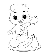 Printable Fruit Basket Coloring Pages