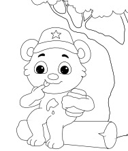 Printable I Love Honey Coloring Pages