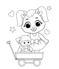 Printable Dolls Coloring Pages