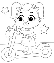 Printable Kick Scooter Coloring Pages