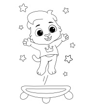 Printable Trampoline Coloring Pages